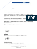 Sample Room Reservation Letter