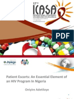 Patient Escorts - An Essential Element of an HIV Program in Nigeria