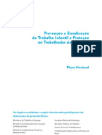 Plano Nacional de Prevenção e Erradicação do Trabalho Infantil - Português
