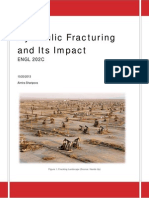 Hydraulic Fracturing and Its Hazards