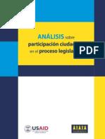 Análisis sobre Participación Ciudadana en Proc Leg