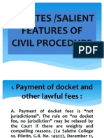 Updates/Salient Features of Philippine Civil Procedure