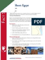 Egypt Fact Sheet