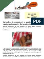 Agricultor é assassinado a pauladas e filho é o principal suspeito do homicídio