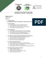 2013 Biologie Nationala Clasa a Xia Proba Teoretica Subiecte Si Bareme (1)