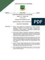 Peraturan Daerah Kota Tangerang Nomor 23 Tahun 2000 Tentang Rencana Tata Ruang Wilayah
