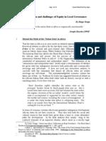 tenga, ringo w. 'Decentralization and Governance in Tanzania - The Land Law reform' World Food Day, Cornell U. NY, 1997
