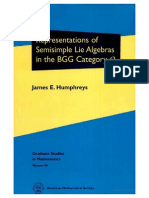 Humphreys J.E. Representations of Semisimple Lie Algebras in the BGG Category O 2008