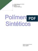 Informe Polímeros Sintéticos
