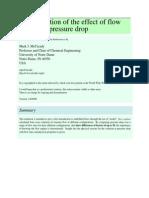 Demonstration of the effect of flow regime on pressure drop