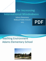 plan for increasing international-mindedness