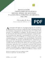 Boyer. 2006. Revolución y paternalismo ecológico,  Miguel Ángel de Quevedo y la política forestal en México, 1926-1940