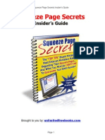 Squeeze Page Secrets Insider's Guide