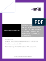 CU00834B Ejemplos Lectura Escritura Ficheros Texto PHP