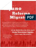 Fast for Immigration Reform-Spanish