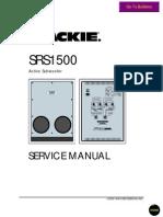 Mackie SRS1500 Service Manual
