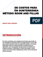 Modelo de costos para operación subterránea método Room