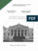 Anatomia Clinica Si Descriptiva a Membrelor