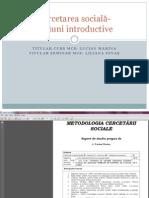 Intiere in Metodologia Cercetarii Sociale