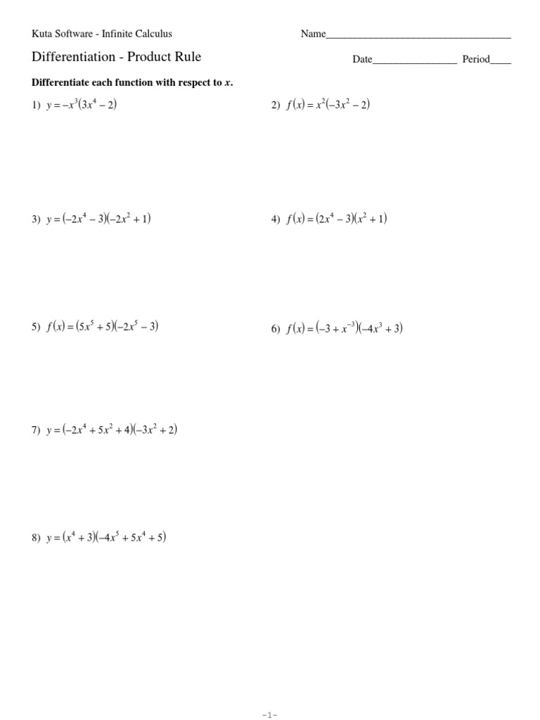 Product Rule Worksheet Philosophical Methodology Physical Quantities