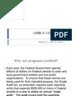 OMB a-133 Audits