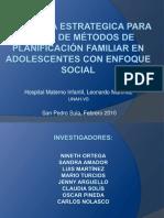Presentación de la Investigación Adolescentes Hosp L Martinez
