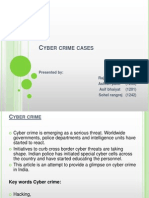 CYBER CRIME CASES