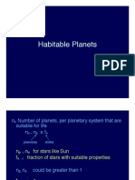 Habitable Planets Lecture