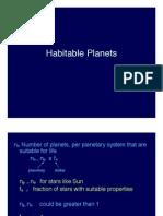 Habitable Planets Lecture