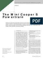 The Mini Cooper S Powertrain