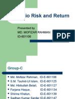 Portfolio Risk and Return