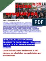 Noticias Uruguayas Lunes 9 de Diciembre Del 2013
