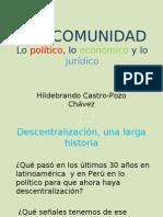 MANCOMUNIDAD - Politico Economico y Juridico - Hcpch