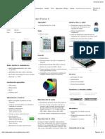 Apple - iPhone - Especificaciones técnicas del iPhone 4