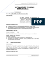 ESPECIFICACIONES TÉCNICAS - ESTRUCTURAS