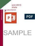 Powerpoint 2013 Intermediate Training Manual