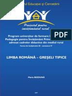 Lb.romana Greseli Tipice