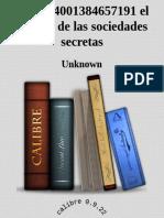 El Enigma de Las Sociedades Secretas