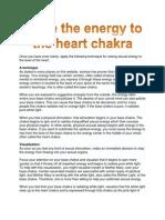 Raise the Energy to the Heart Chakra