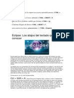 UD 2. IDE Eclipse 3. Atajos