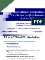 Classification Raisonnée des Bétalactamases des Gram Négatifs