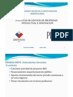 Politicas Institucionales de PI en Chile