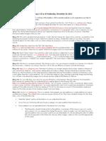 Blog Topics for 2013, Semester 1