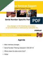 Serial Number Filtering Training