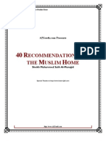 40.Recommendations.For.The.Muslim.Home //MuhammadSalehAlMunajjid//