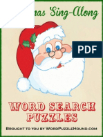 Christmas Songs Word Search Puzzles
