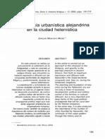 La tipología urbanística alejandrina