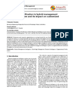 Complexity identification in hybrid managementintelligence system and its impact on customized throughput