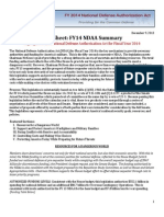 FY14 NDAA Summary Fact Sheet