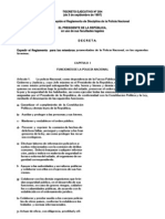 Reglamento Interno Disciplinario - Policia Nacional